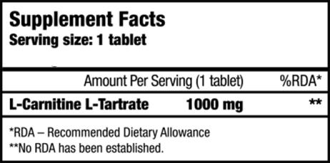 L.carnitina 1000 mg Nutrienda