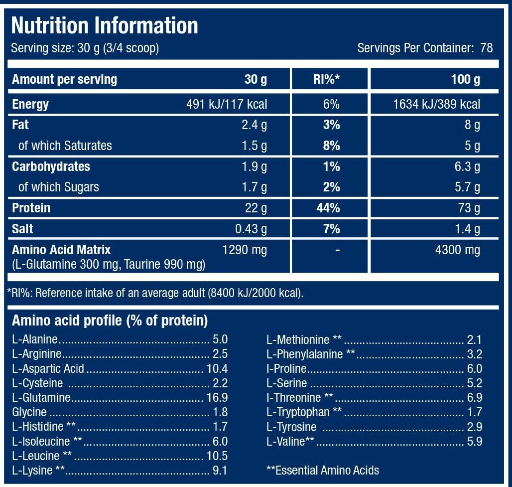 Whey protein 2350 gr Nutrienda