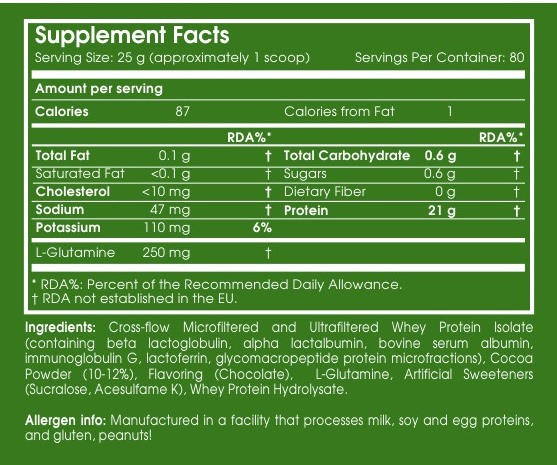 whey isolate nutrienda